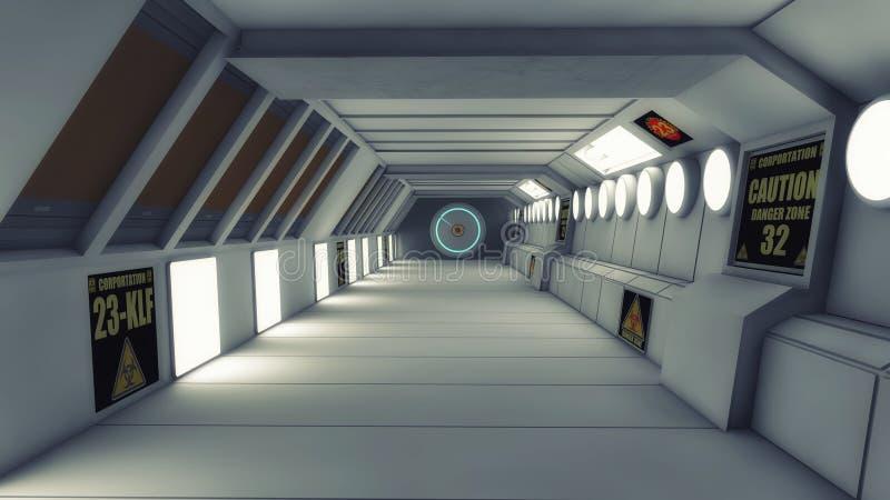 Futuristic background architecture corridor. 3d rendering. Futuristic background architecture corridor