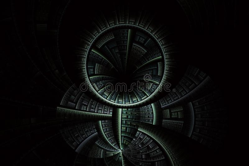 Futuristic background with optical illusion royalty free illustration