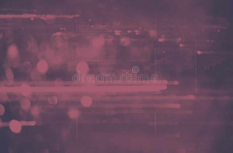 Futuristic background of the 80s retro style. Digital or Cyber Surface. neon lights and geometric pattern , test screen glitch. Futuristic background of the 80s stock image