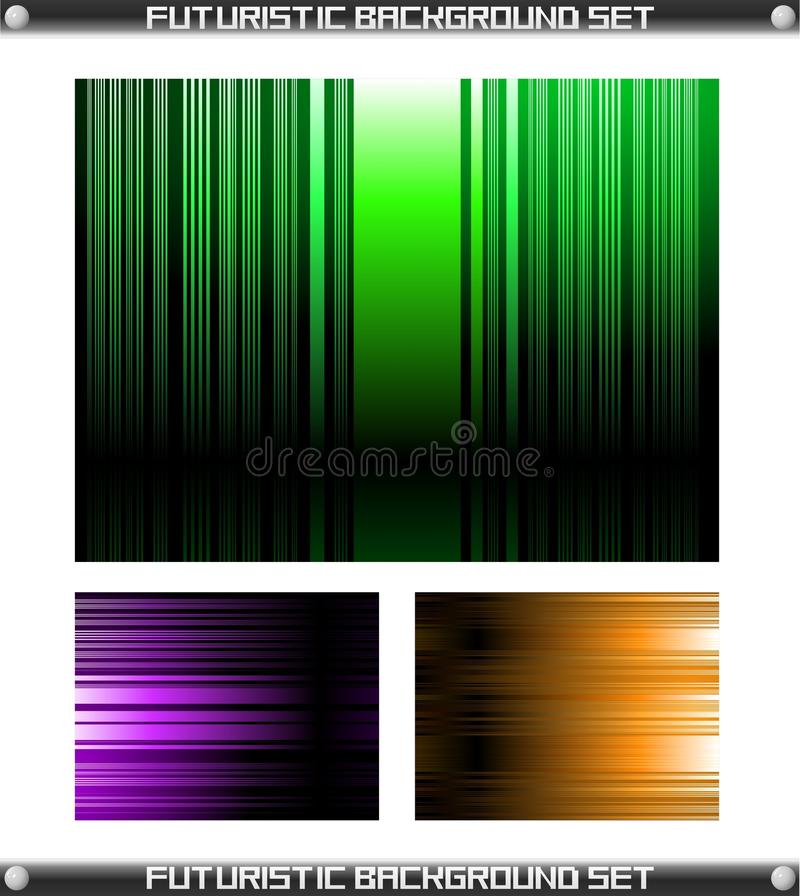 Futuristic Background Set Vector vector illustration
