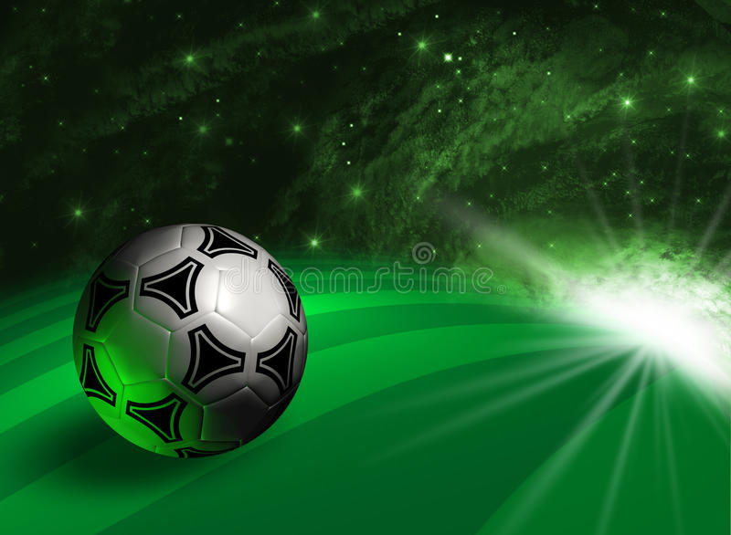 Futuristic background with soccer ball royalty free illustration