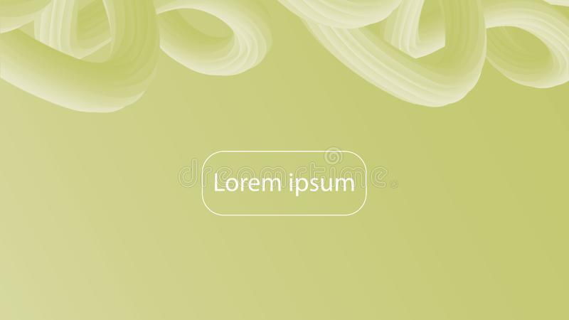 Futuristic baroque gradient geometric background. Trendy green and yellow composition vector illustration