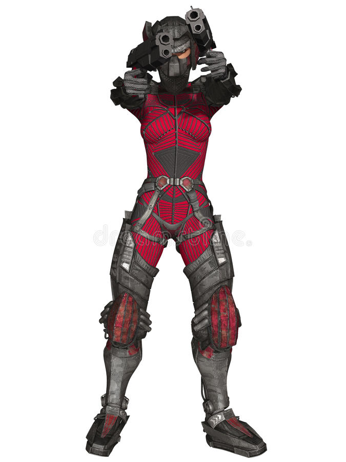 Download Futuristic Battle Suit stock illustration. Image of galaxy - 18726148