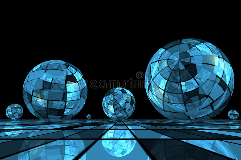 Download Futuristic blue balls stock illustration. Illustration of illustrated - 10610295
