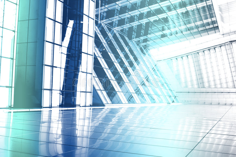 Futuristic Building Abstract Wallpaper Background stock illustration