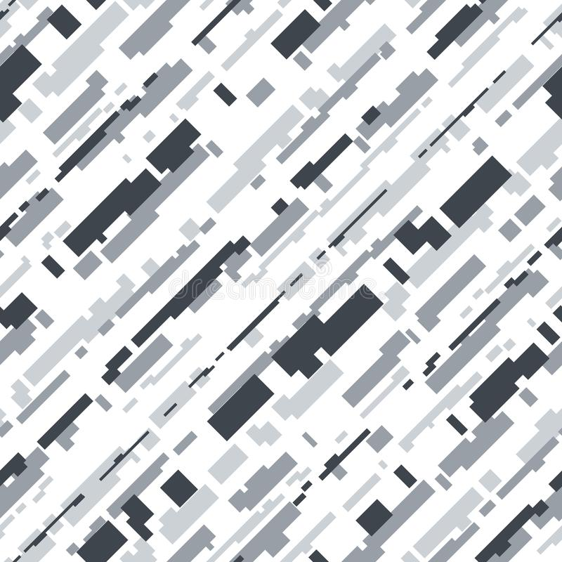 Futuristic Camouflage Vector Seamless Pattern. Modern Military Camouflage Seamless Pattern Background with Glitch Pixelate Effect. Futuristic Hi-Tech Design vector illustration