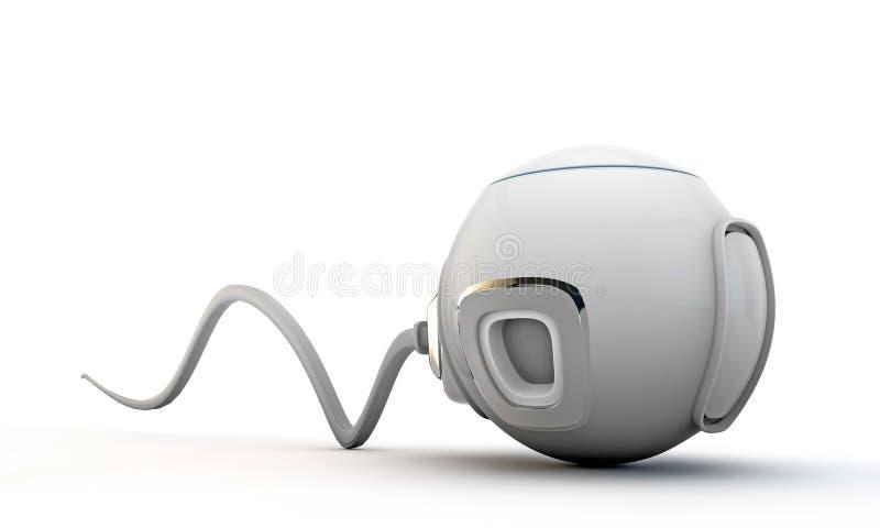 Futuristic capsule. On white background stock illustration