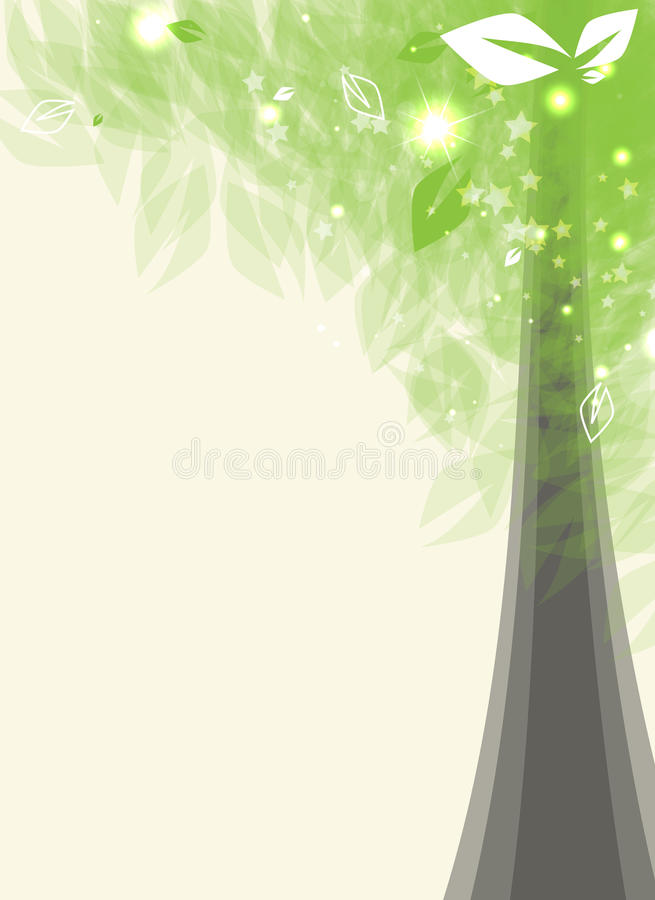 Download Futuristic Card Stylized Tree With Leafage Stock Image - Image: 25920161