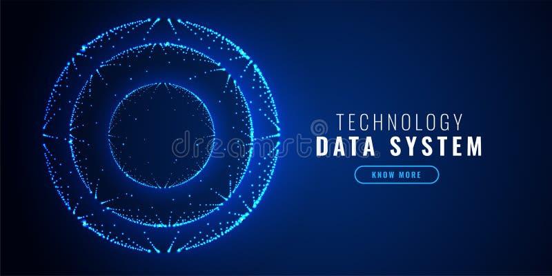 Futuristic circle dots technology background. Vector stock illustration