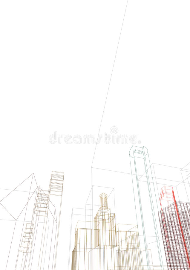 Futuristic city stock illustration