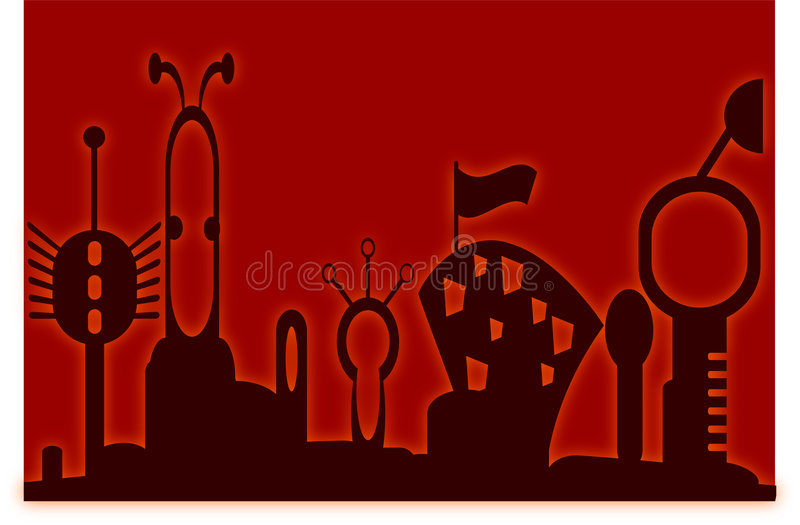 Futuristic city royalty free illustration