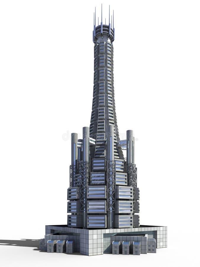 Futuristic city architecture vector illustration