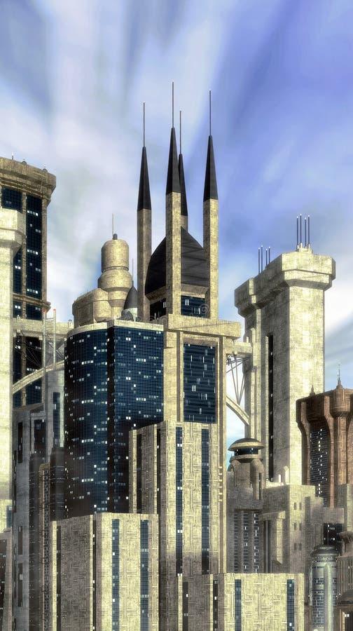 Futuristic city background