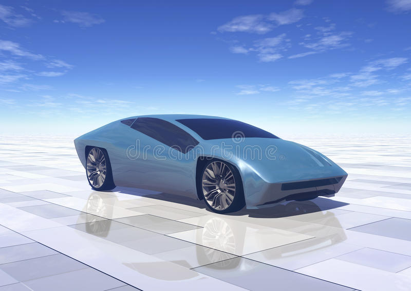Futuristic concept car prototype vector illustration