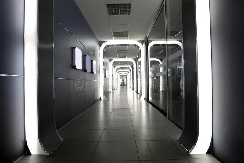 Futuristic corporate interior royalty free stock photo