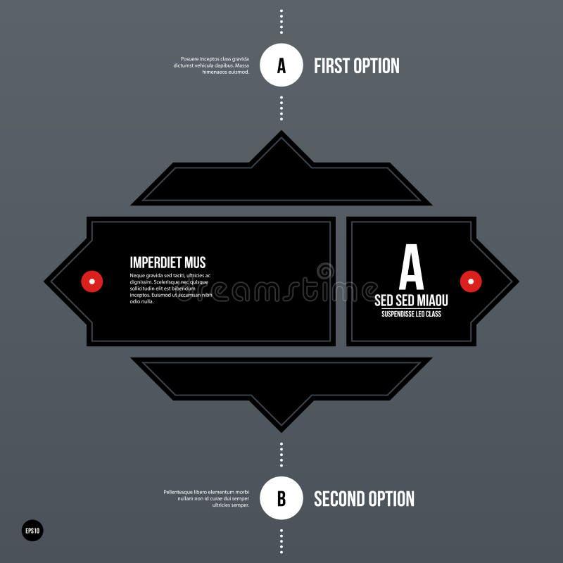 Futuristic corporate web template. Futuristic corporate web design template. Useful for presentations or advertising stock illustration