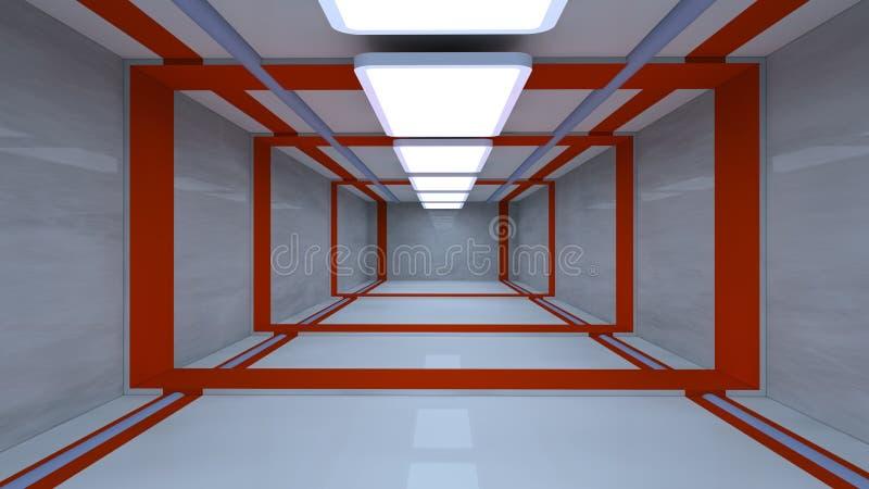 Futuristic corridor vector illustration
