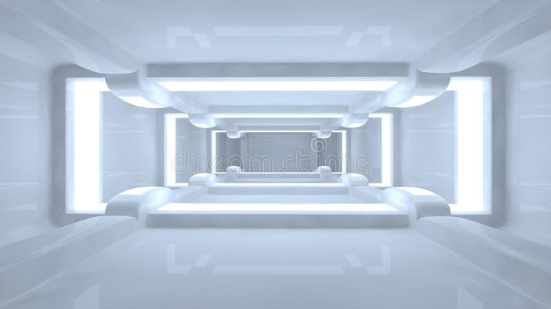 Futuristic corridor stock illustration