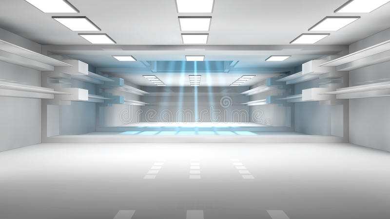 Download Futuristic corridor stock illustration. Image of station - 33465627