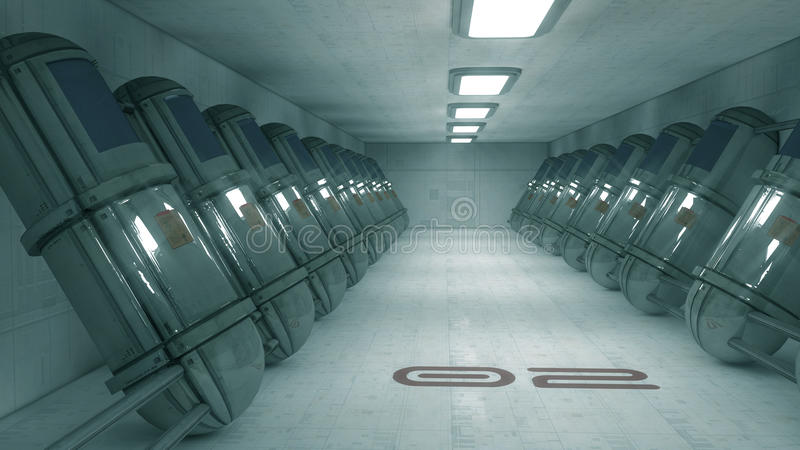 Download Futuristic corridor SCIFI stock illustration. Image of pure - 33277952