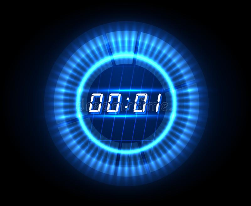 Futuristic countdown clock stock illustration