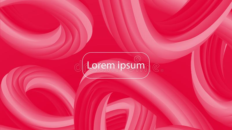 Futuristic crimson gradient geometric background. Trendy bright red and pink composition vector illustration
