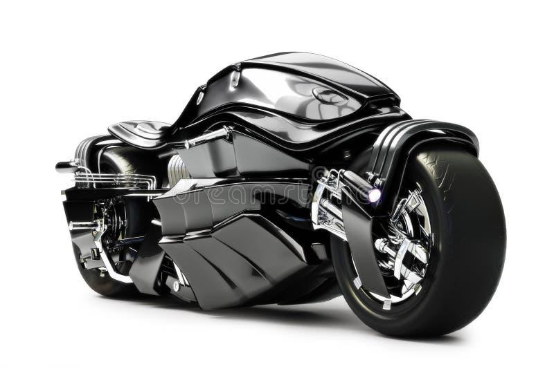 Futuristic custom motorcycle concept vector illustration