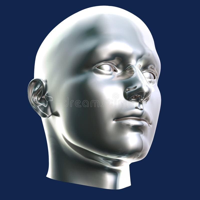Download Futuristic Cyborg Head stock illustration. Image of background - 9327043