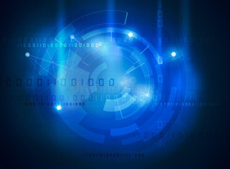 Futuristic data high tech interface. Futuristic data high tech blue interface royalty free illustration