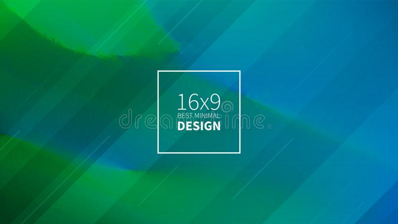 Futuristic design green and blue background. Templates for placards, banners, flyers, presentations and reports. Minimal geometric royalty free illustration