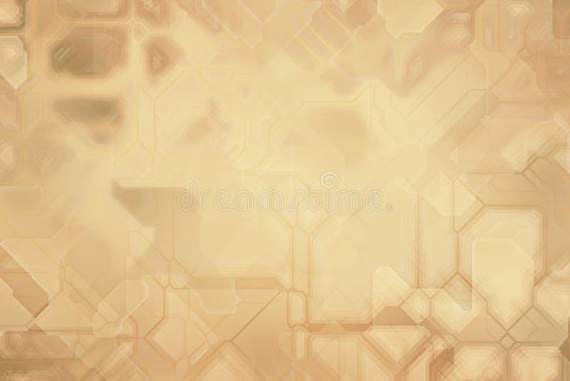 Futuristic digital background, blockchain fintech technology royalty free illustration