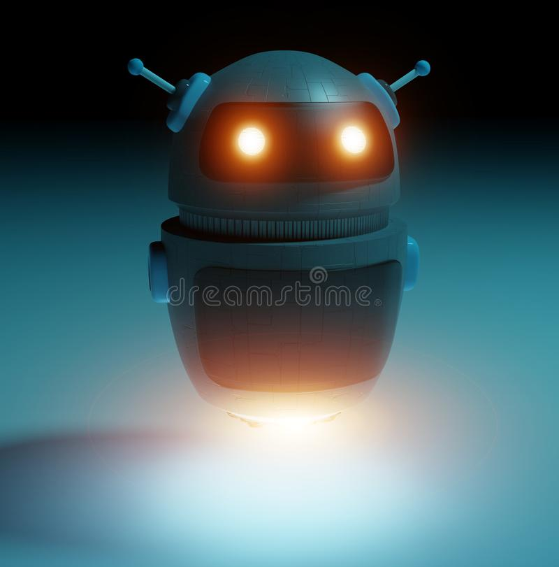 Futuristic digital chatbot 3D rendering vector illustration