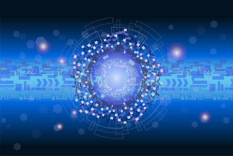 Futuristic digital graphic and data technology concept. stock illustration