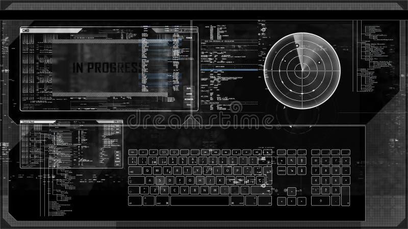Futuristic digital interface screen  Future, function