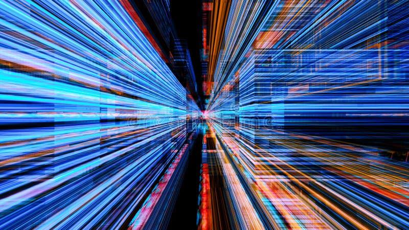 Futuristic Digital Light Technology 10804. Conceptual futuristic technology digital light abstraction. High resolution illustration 10804 stock photography
