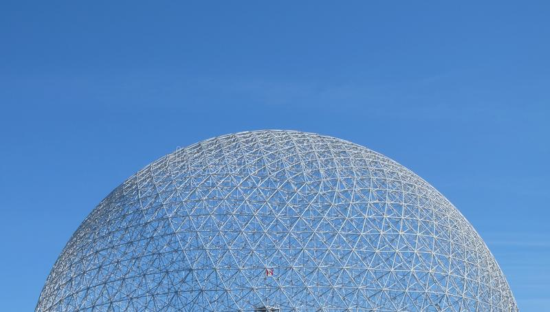 Futuristic domed glass building royalty free stock photo