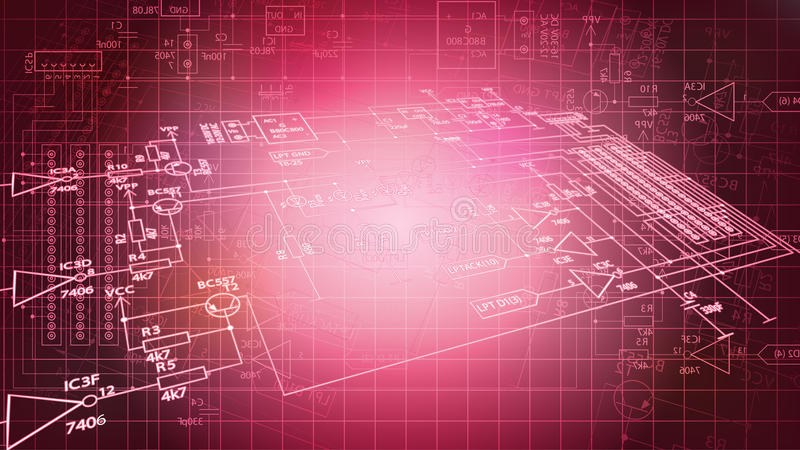 Download Futuristic Electronic Wire Background Stock Illustration - Image: 25258156