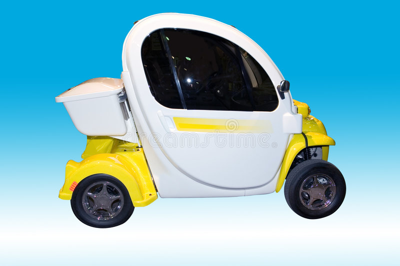 futuristic elkraft för 2 bil royaltyfria bilder