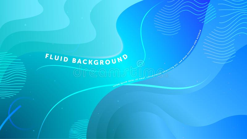 Futuristic fluid abstract background. Liquid light blue gradient geometric shapes. Eps 10 vector royalty free illustration
