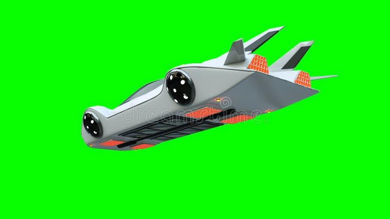 Futuristic flying car . Transport of future. Isolate. 3d rendering. Futuristic flying car . Transport of future. Isolate. 3d rendering royalty free illustration