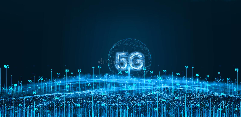 A futuristic 5g modern technology.  vector illustration