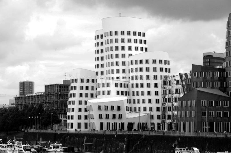 Download Futuristic Gehry Buildings - In Black & White Editorial Photo - Image: 26835846