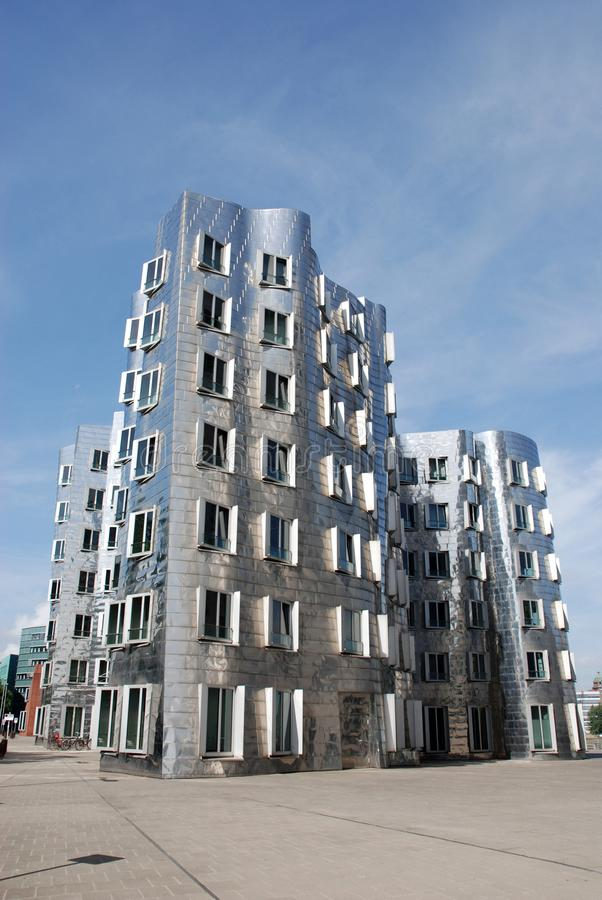 Futuristic Gehry houses in Medienhafen in Düsseldorf, germany. Gehry building in Medienhafen , a new part of Duesseldorf, Germany. In Medienhafen there are a stock photo