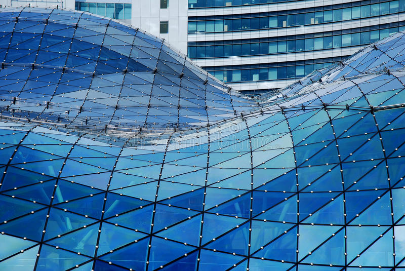 futuristic glass tak fotografering för bildbyråer