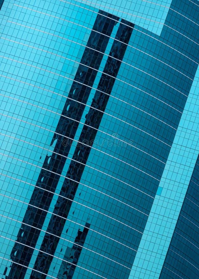 Glass wall of modern skyscraper. Futuristic glass wall of modern skyscraper stock photo