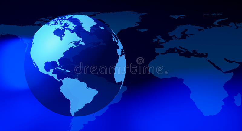Futuristic globe world background stock illustration