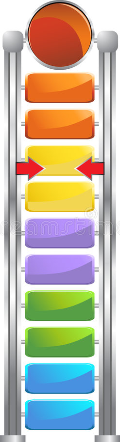 Futuristic Goal Meter royalty free illustration