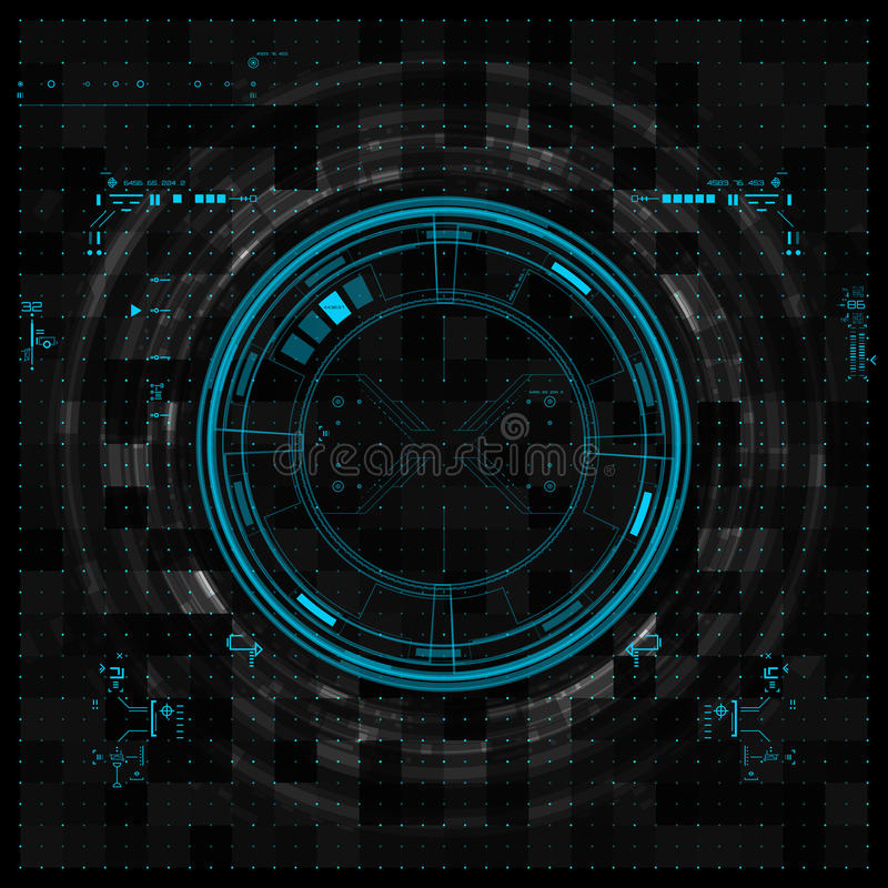 Futuristic graphic user interface. Vector illustration vector illustration