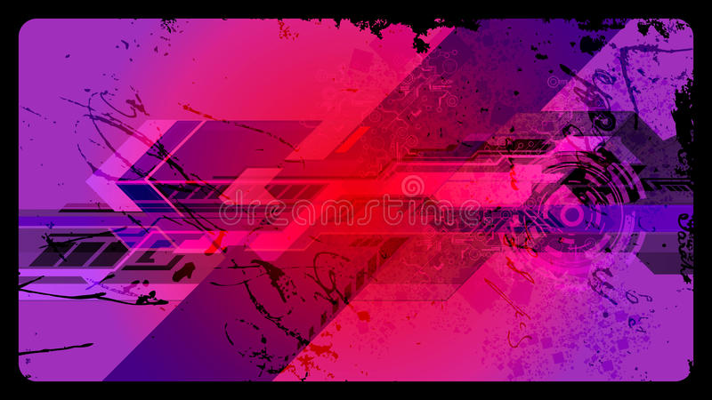Futuristic Grunge Vector Background Royalty Free Stock Photos