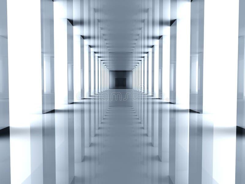 Futuristic Hallway royalty free illustration